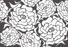 Ornamental vector pattern with decorative flower Stock Photos