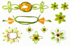 Ornamental vegetable elements Royalty Free Stock Photos