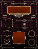 Ornamental victorian frames with scrolls.Vector. Royalty Free Stock Image