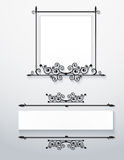 Ornamental victorian frames.Vector. Stock Image
