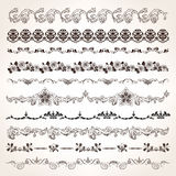 Ornamental vintage border set Royalty Free Stock Photos