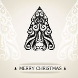 Ornamental vintage christmas card Royalty Free Stock Photography