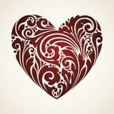 Ornamental vintage  decorative symbol heart. Vector illustration Stock Photo