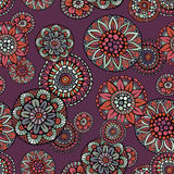 Ornamental vintage fantasy floral vector seamless pattern Royalty Free Stock Photos