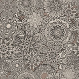 Ornamental vintage Floral elements seamless pattern Royalty Free Stock Photo