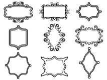 Ornamental vintage frame set Stock Photos