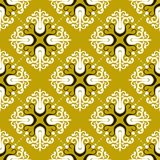 Ornamental vintage pattern with damask motifs Royalty Free Stock Image