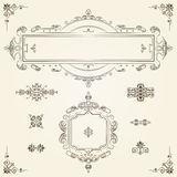 Ornamental vintage rectangular border frames Royalty Free Stock Photos