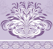 Ornamental violet border Royalty Free Stock Images