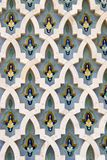 Ornamental wall. Ornamental in a mosque in Casablanca, Marocco Royalty Free Stock Images