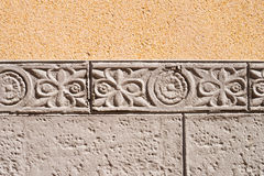 Ornamental  wall cladding. Ornamental wall cladding using granite bricks with floral motives Royalty Free Stock Photography