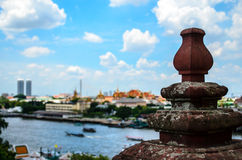 Ornamental Wall. High view of temple wall Royalty Free Stock Photography