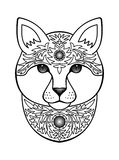 Ornamental White Cat Royalty Free Stock Image