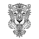 Ornamental White Panther Royalty Free Stock Image