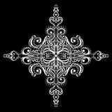 Ornamental white snowflake Royalty Free Stock Photo