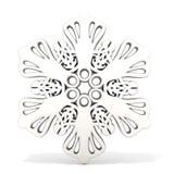 Ornamental, white snowflake, 3D render Royalty Free Stock Photos