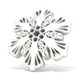 Ornamental, white snowflake, 3D render Stock Photos
