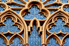 Ornamental  window of the church  in Germany Royalty Free Stock Photography
