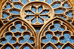 Ornamental  window of a church in Minden in Germany Royalty Free Stock Photo