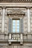 Ornamental window of Palazzo Maffei in Verona. Royalty Free Stock Image
