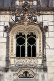 Ornamental window / Quinta da Regaleira Palace in Sintra, Lisbon Stock Image