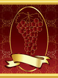 Ornamental wine label Royalty Free Stock Photography