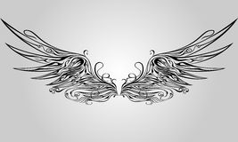Ornamental Wing Royalty Free Stock Images