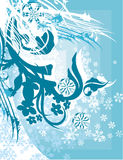 Ornamental winter background Royalty Free Stock Images