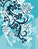 Ornamental winter background Stock Photo
