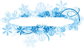 Ornamental winter background Royalty Free Stock Photo
