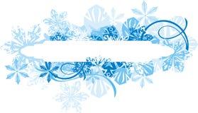 Ornamental winter background Royalty Free Stock Photo