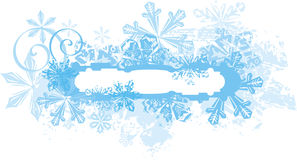 Ornamental winter background Royalty Free Stock Photography