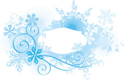 Ornamental winter background Stock Image