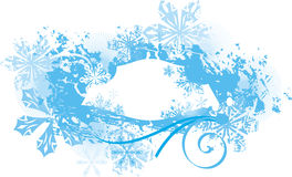Ornamental winter background Stock Images
