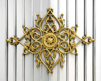 Ornamental work of iron. Door stock images