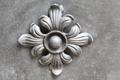 Ornamental work of metal. Close up stock photography