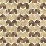 Ornamental worn textile geometric seamless pattern, vector abstr Royalty Free Stock Images