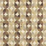 Ornamental worn textile geometric seamless pattern, vector abstr Stock Images