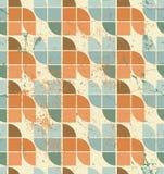 Ornamental worn textile geometric seamless pattern, vector decor Stock Image
