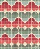 Ornamental worn textile geometric seamless pattern, vector decor Royalty Free Stock Photography
