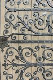 Ornamental wrought iron door Stock Photos