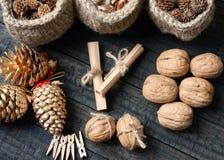 Ornamental, Xmas, christmas pine cone, handmade Stock Photo