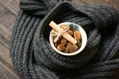 Ornamental, Xmas, christmas pine cone, handmade Stock Images