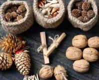 Ornamental, Xmas, christmas pine cone, handmade Royalty Free Stock Photography