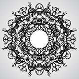 OrnamentalCicrle2. Black ornamental pattern on the gradient background Royalty Free Stock Images