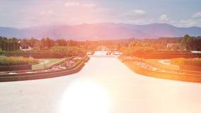Ornamentale, giardino complesso e fontana video d archivio