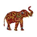 Ornamentale rosso dell'elefante Fotografia Stock