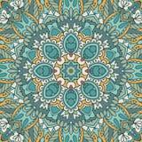 Ornamentale senza cuciture etnico della Boemia del modello delle mattonelle geometriche d'annata Stampa grafica disegnata a mano illustrazione vettoriale