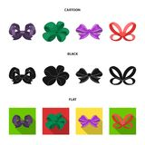 Ornamentals, frippery, finery and other web icon in cartoon,black,flat style.Bow, ribbon, decoration, icons in set. Ornamentals, frippery, finery and other  icon Royalty Free Stock Photos