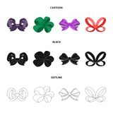 Ornamentals, frippery, finery and other web icon in cartoon,black,outline style.Bow, ribbon, decoration, icons in set. Ornamentals, frippery, finery and other Royalty Free Stock Image
